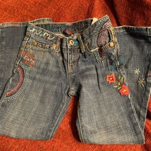 Girls embroidered jeans Gap jeans